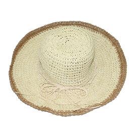 Handmade Summer Hat in Beige (Size 54x40cm)