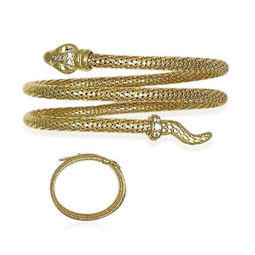 Italian Made Snake Bracelet (Size 7.5) in 14K Gold Overlay Sterling Silver, Silver wt 26.11 Gms.
