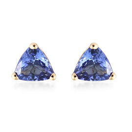 ILIANA  18K Yellow Gold AAA Tanzanite (Trl) Earrings (with Screw Back) 0.750 Ct