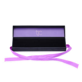 Luxury Black Bracelet Gift Box With Purple Ribbon [24.5x5.7x4cm]