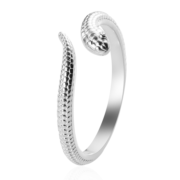 Sterling Silver Snake Bypass Ring