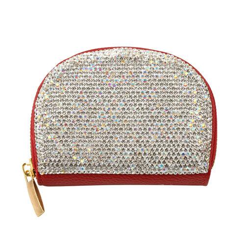 Kris Ana Crystal Cardholder (Size 9x12x3cm) - Red