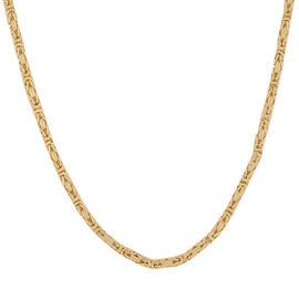 Italian Made - 9K Yellow Gold Byzantine Necklace (Size 20)
