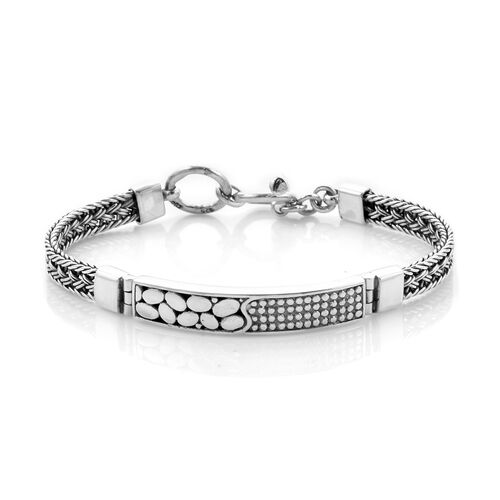 Royal Bali Collection - Sterling Silver Bracelet (Size 7.5), Silver wt. 20.00 Gms