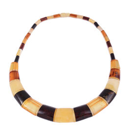 18 Inch Multi Colour Amber Collar Necklace 90 Ct