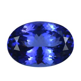 IGI Certified AAAA Tanzanite Oval Mixed Cut 19.54x13.58x9.62mm 18.35 Cts