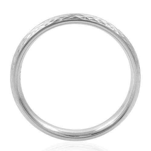 Royal Bali Collection 9K White Gold Diamond Cut Band Ring