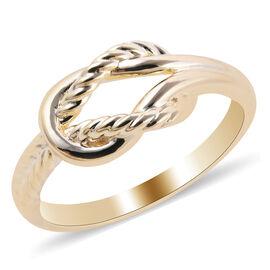 Royal Bali Collection 9K Yellow Gold Knot Ring