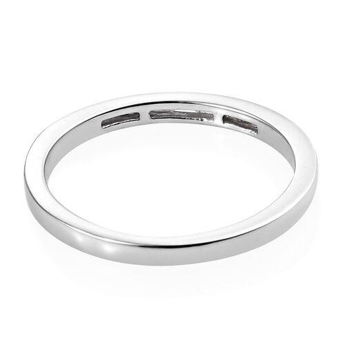 Diamond Platinum Overlay Sterling Silver Ring  0.060  Ct.