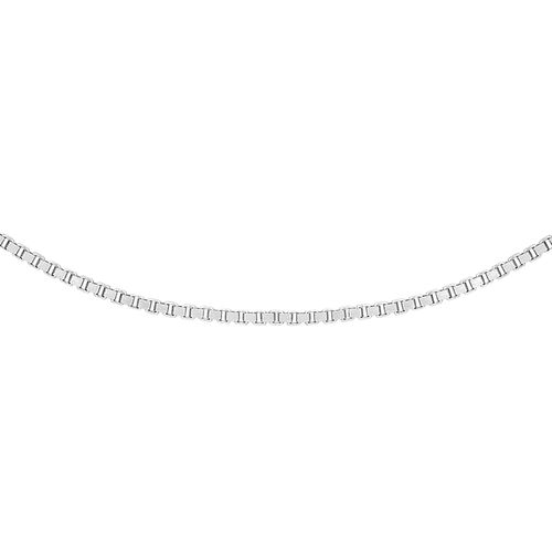 9K White Gold Adjustable Box Chain (Size 16-18)