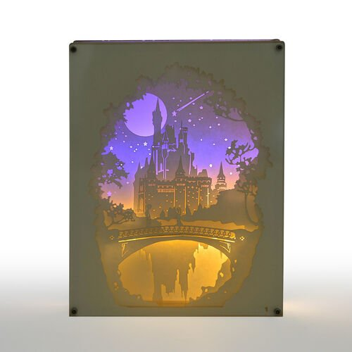 Home Decor - Fairy Tale Lighting with Paper Cut 3D Enchanted Castle Motif (Size 20.8x15.8x4.2 Cm)