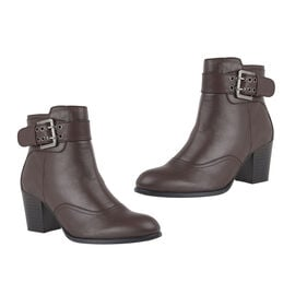 Lotus Bordo Leather Lark Heeled Ankle Boots
