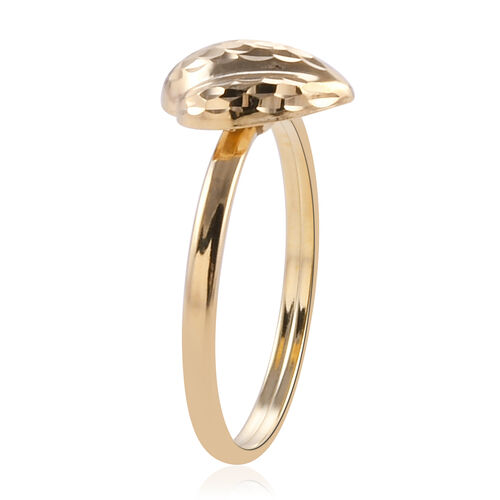Royal Bali Collection 9K Yellow Gold Fancy Cut Ring
