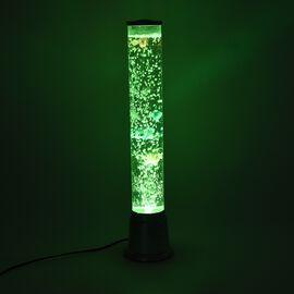 TJC Launch- Bubble Fish Tank Lamp with Colour Changing LED Light (H 58Cm) - Silver Base Colour
