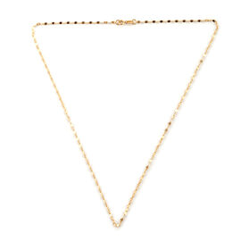 Close Out Deal - Royal Bali Collection 9K Yellow Gold Diamond Cut Sparkle Necklace (Size 18)