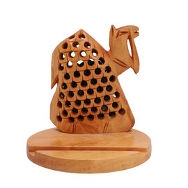 New Arrival- Hand Carved Wooden Mobile Phone Holder- Camel