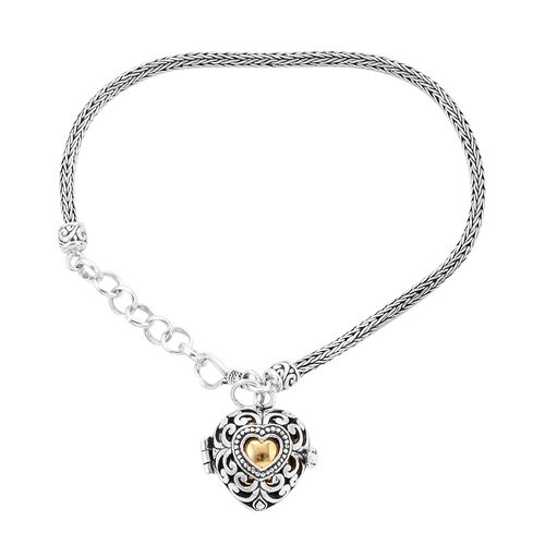 Royal Bali Collection - Yellow Gold Overlay Sterling Silver Bracelet (Size 7 with 1 inch Extender) w
