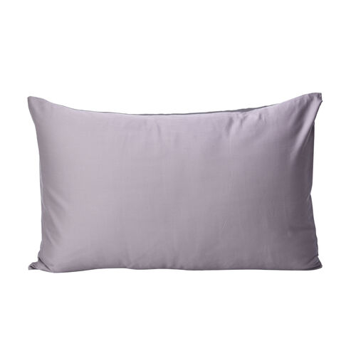 100% Mulberry Silk Hyaluronic and Argan Oil Infused Pillowcase (Size 50x75cm) - Dark Grey