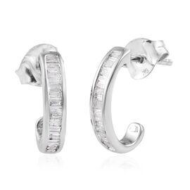 Diamond 9K W Gold Earring  0.330  Ct.