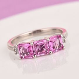 RHAPSODY 950 Platinum AAAA Madagascar Pink Sapphire and Diamond (VS/E-F) 2.15 Gms, Platinum wt. 4.00