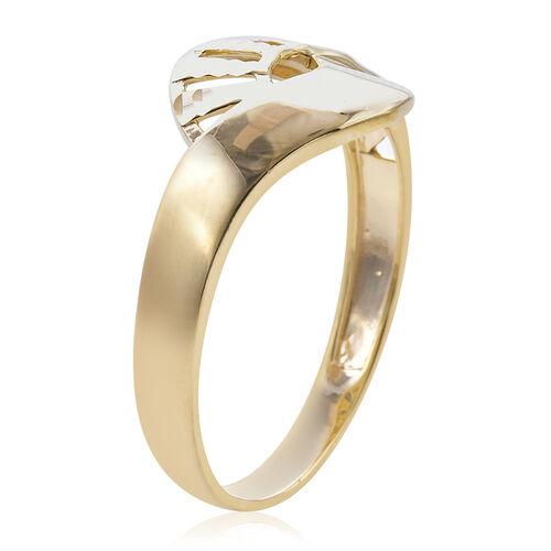 Royal Bali Collection - 9K Yellow Gold Diamond Cut Ring