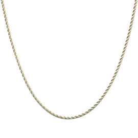 9K Yellow Gold Rope Necklace (Size 18), Gold wt 3.00 Gms.
