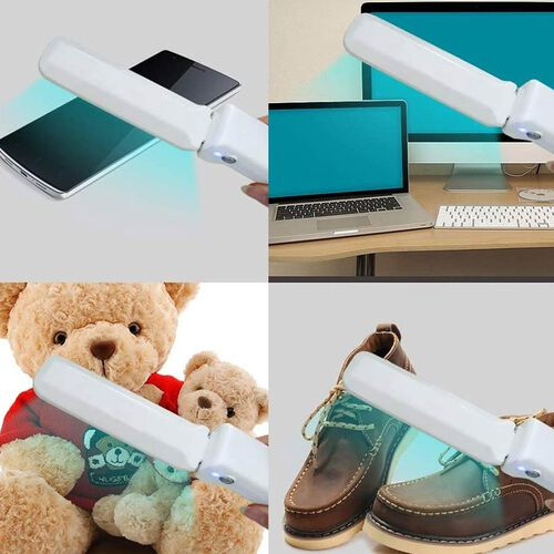 Foldable UV sterilizer Powered By 4 AAA battery (not included) and USB cable