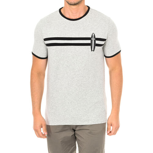 Karl Lagerfeld - Mens Surf T-Shirt Short Sleeve (Size S) - Grey Melange