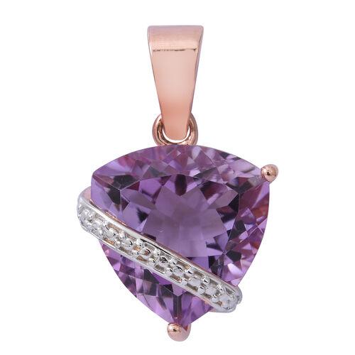 Rose De France Amethyst (Trl) Pendant in Rose Gold Overlay Sterling Silver 7.850 Ct.