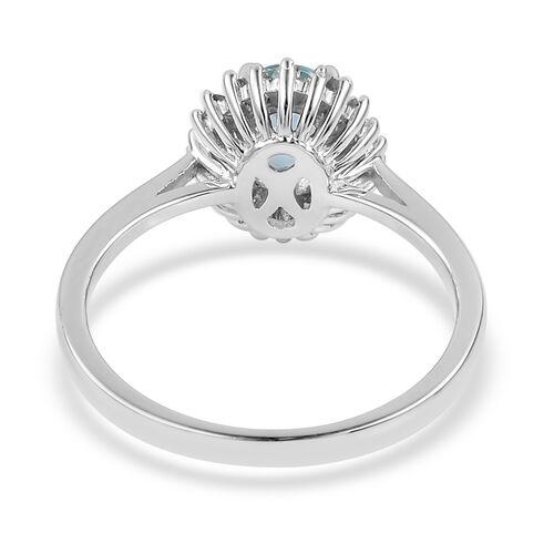 Collectors Edition - Rare Size ILIANA 18K White Gold AAA Paraiba Tourmaline (Ovl), Diamond (SI/G-H) Ring 0.940 Ct.
