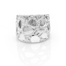 RACHEL GALLEY Molten Dome Ring in Rhodium Plated Sterling Silver