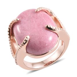 Zaire Rhodonite (Ovl) Ring in 18K Rose Gold Plated 20.000  Ct.