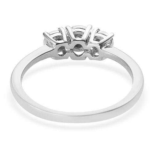 Diamond Platinum Overlay Sterling Silver Ring  0.050  Ct.