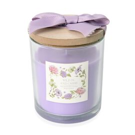 Fragrance Candle with Wooden Cover (Wild Fig and Cassis Fragrance)