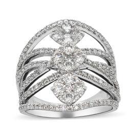 14K White Gold Diamond (I1/G-H) Ring 1.50 Ct, Gold wt 6.70 Gms