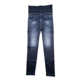 Dark Blue FIGURE FLAWLESS - JEANEEZ HIGH WAIST LEGGINGS (SIZE XL/XXL)