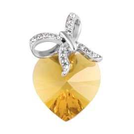 Crystal from Swarovski - Sunflower Colour Crystal (13.60 Ct),Crystal from Swarovski - White Colour C