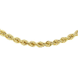 9K Yellow Gold Rope Chain (Size 24) with Spring Clasp, Gold wt. 5.30 Gms