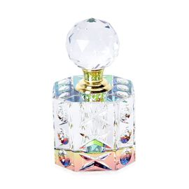 Hexagonal Carved Crystal Refillable Perfume Bottle with Colourful Base(Size 11x6.5 mm)