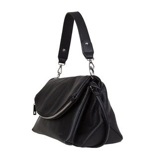 Bulaggi Collection - Cindy Crossbody Bag with Zipper Closure (Size 30x22x15 Cm) - Black