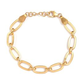 Link Bracelet in Gold Plated Sterling Silver 7.5 Inch