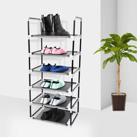6 Layer Shoe Rack in Black (43X100X29CM)
