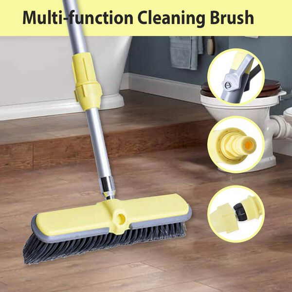 Water Broom Set (Includes Hard Wire Brush Head and Soft Wire Brush Head (L: 118-185 Cm)