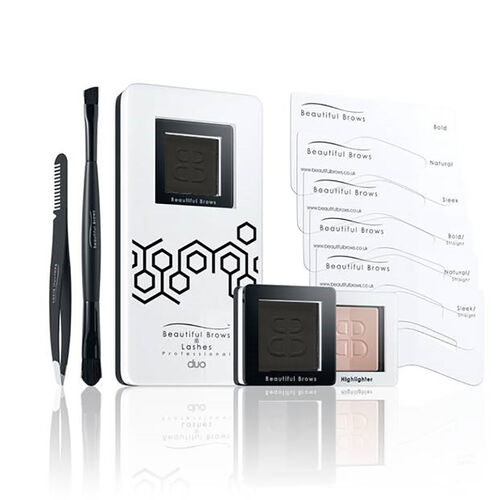 Beautiful Brows: Duo Brow Kit Black (With free Eyebrow Trimmer & Brow Refill)