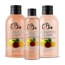 CB and CO Singapore Sling Cocktail Set - Body Tonic, Body Lotion and Body Wash Estimated Dispatch 3-5 working days