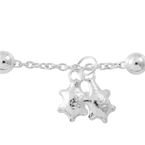 Sterling Silver Beads Anklet with Star Charm, Silver wt. 5.53 Gms.