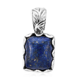 Royal Bali 5.90 Ct Lapis lazuli Solitaire Pendant in Sterling Silver