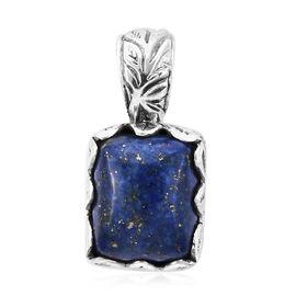 Royal Bali Collection- Lapis lazuli (Cush) Pendant in Sterling Silver 5.90 Ct.