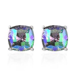 J Francis Crystal from Swarovski Paradise Shine Crystal Stud Earrings (with Push Back) in Platinum O