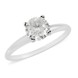 Doorbuster Deal- NY Close Out 14K White Gold IGL Certified Diamond (Rnd) (I1-I2/G-H) Ring 1.000 Ct.